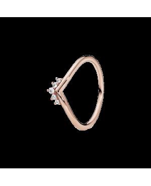 Anel Rose Tiara Wishbone