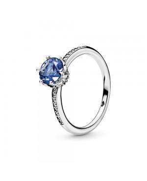Anel Blue Sparkling Crown