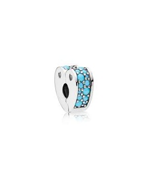 Clip Pandora Cyan Blue Arcs...