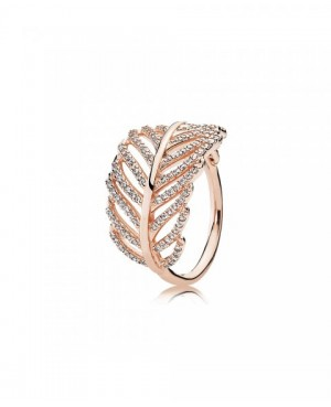 Anel Rose Shimmering Feather