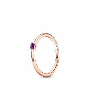 Anel Purple Solitaire,...