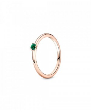 Anel Green Solitaire,...