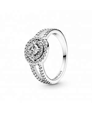 Anel Sparkling Double Halo...